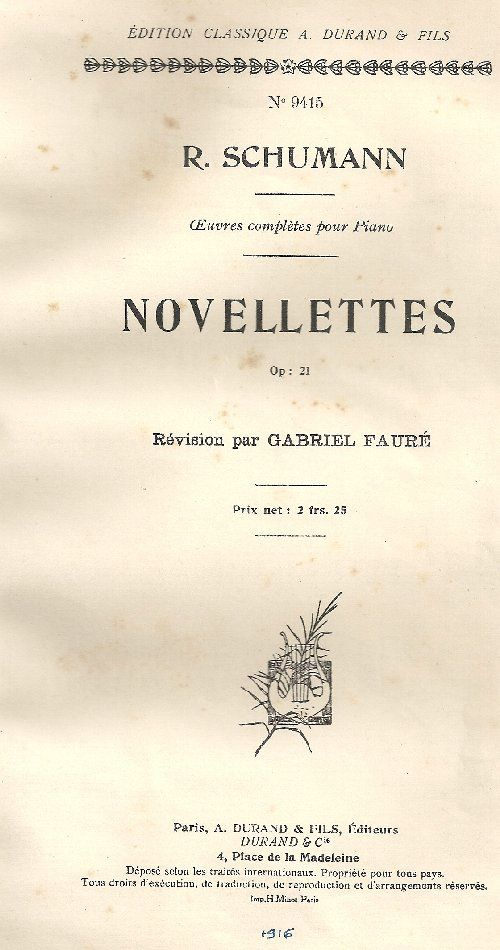Schumann, Robert: Novellettes Op.21 N°5