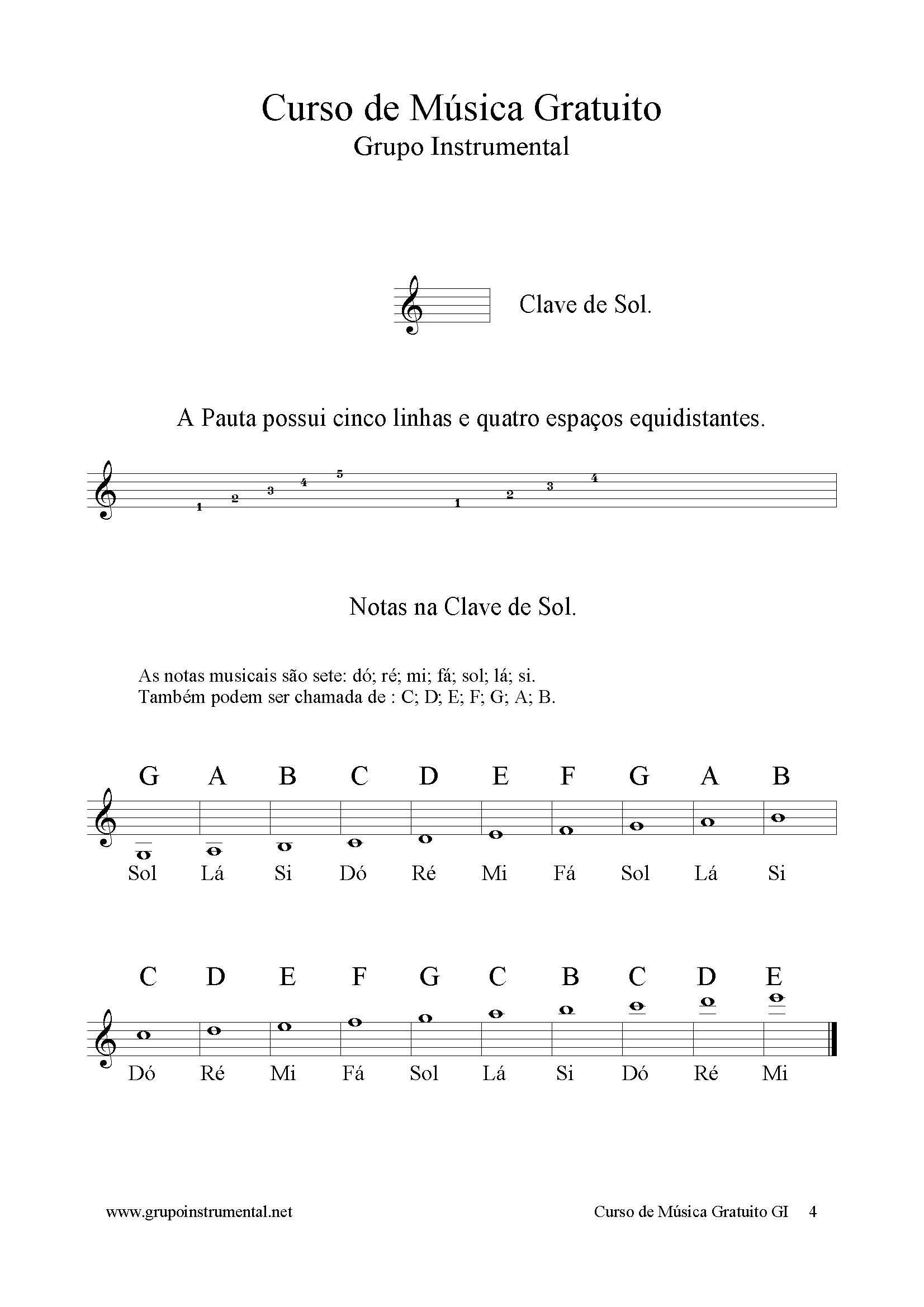 Torcato, Marcelo: Curso de Música Gratuito: Grupo Instrumental